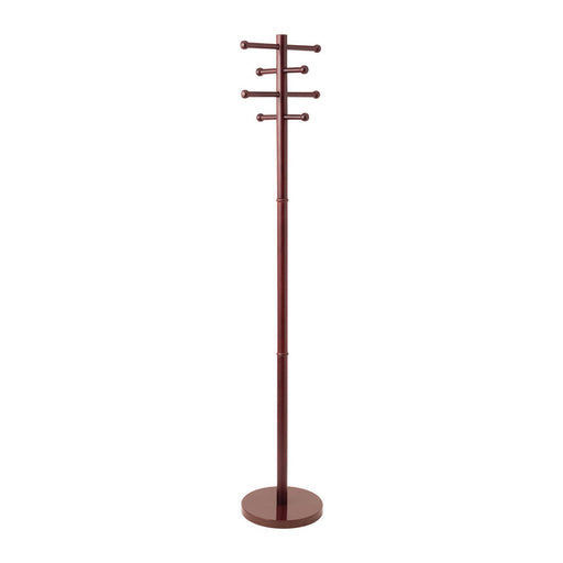 Advantus RTA Wood Coat Tree, Cherry