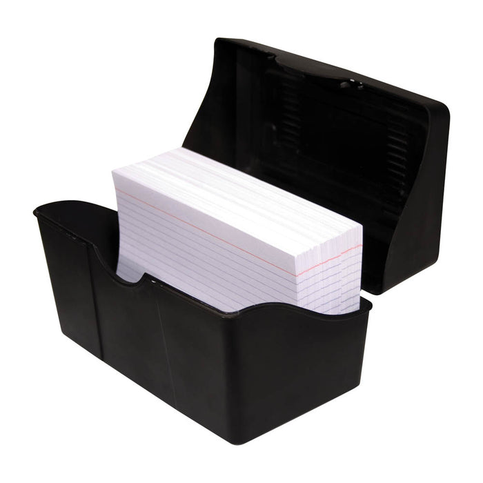 Advantus Index Card Holder, Black, 4in. x 6in