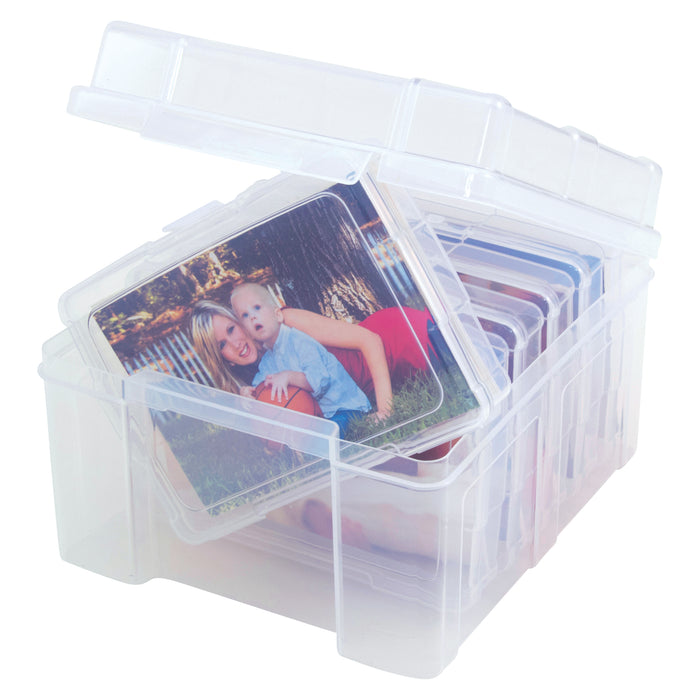 Photo Keeper Box with 6 cases, Clear