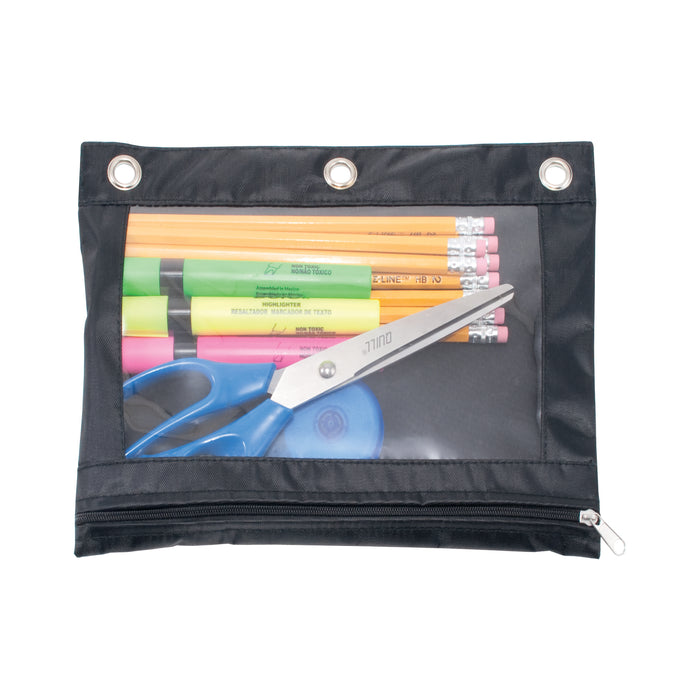 Advantus Binder Pencil Pouch, Black