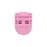 Advantus Breast Cancer Awareness Panel Wall Clip, Pink, 10/BX