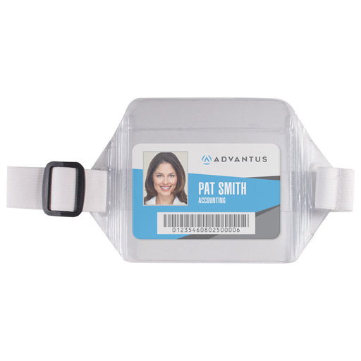 Advantus Arm Badge Holder, Horizontal, 3½in. x 2½in, 12/BX