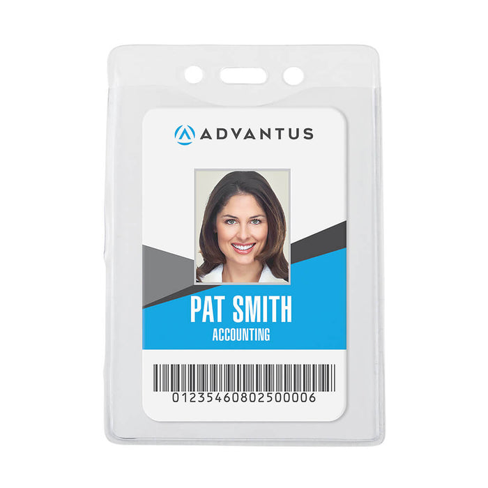Advantus Security Badge Holder, Vertical 50/BX