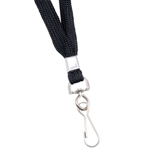Advantus Deluxe Lanyard with J Hook, Black, 24/BX