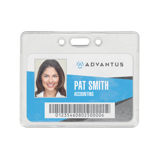 "Advantus Security Badge Holder, Horizontal, 3.38″ x 2.38""in, 50/BX"