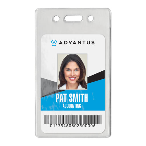 Advantus Proximity Badge Holder, Vertical, 2.38 in. x 3.38 in, 50/PK