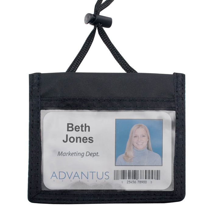 Advantus ID/Convention Neck Pouch, Horizontal, 4in. x 2¼in, 12/PK