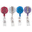 Advantus Retractable ID Card Reel, Assorted Translucent Colors, 4/PK