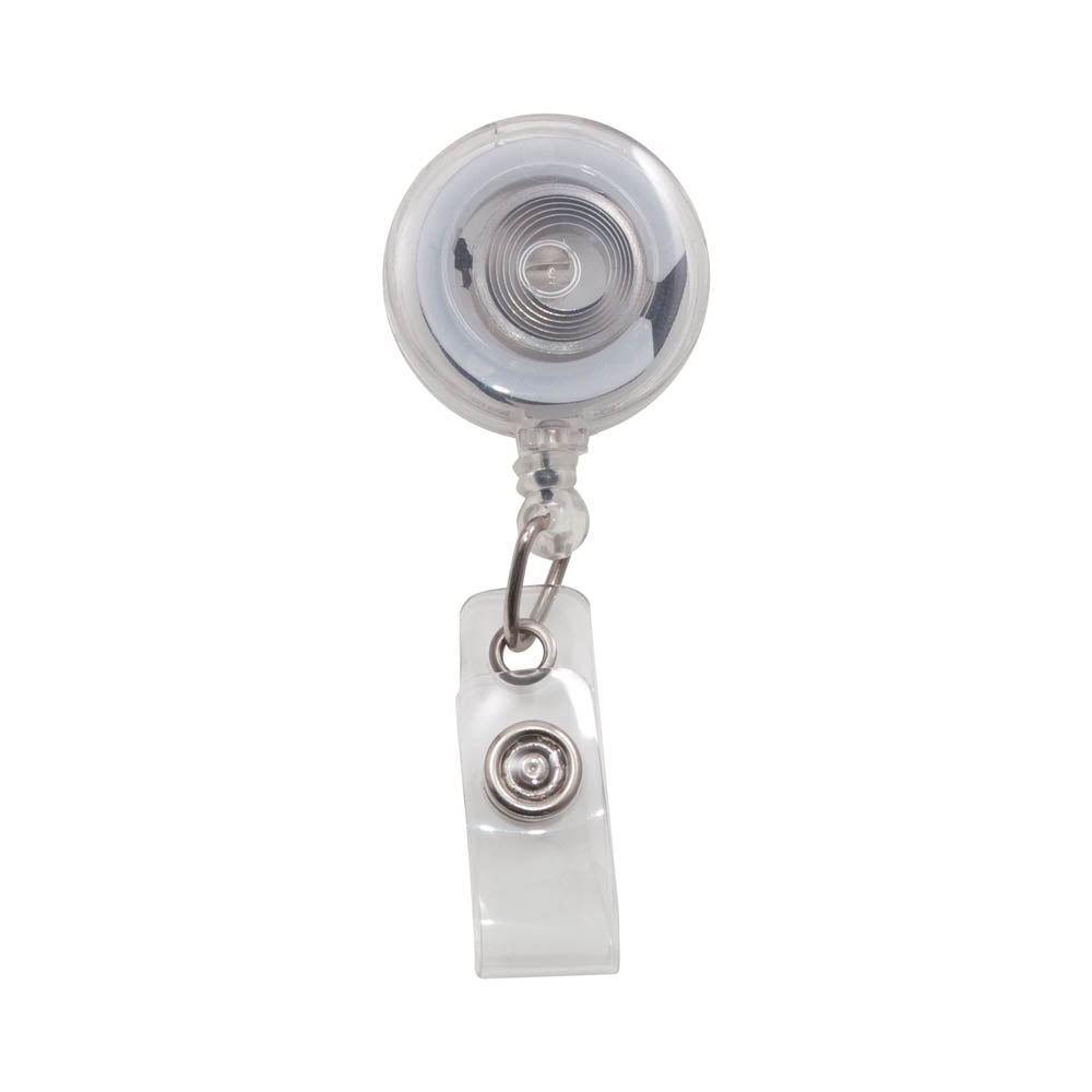 Advantus Retractable ID Card Reel, Clear, 12/PK