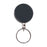 Advantus Heavy Duty Steel Chain Retractable ID Reel with Split Ring, Black/Chrome, 6/PK