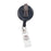 Advantus Swivel Back Clip On Retractable ID Reel with Badge Strap, Black, 12/PK