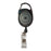 Advantus Retractable Carabiner Style Badge Reel with Badge Strap, Smoke, 12/PK