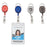 Advantus Retractable Carabiner Style Badge Reel with Badge Strap, Assorted Colors, 20/PK