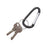 Advantus Carabiner Key Chain with Split Key Ring, Black, 10/PK