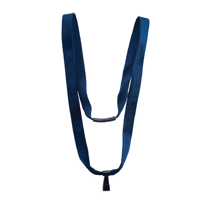 Advantus 36in. Bamboo Breakaway Lanyard, Blue, 10/BX