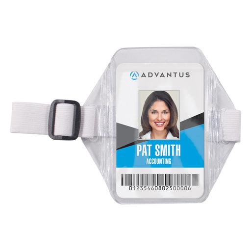 Advantus Arm Badge Holder, Vertical, 2½in. x 3½in, 12/BX