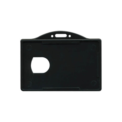 Advantus ID Card Holder, Horizontal, Black, 3⅜in. x 2⅛in, 25/PK