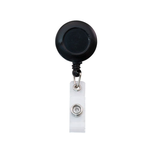 Advantus Clip on Retractable ID Reel with Badge Holder Strap, Black, 12/PK