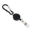 Advantus Metal Badge Reel/Carabiner Set, Black, 5/PK