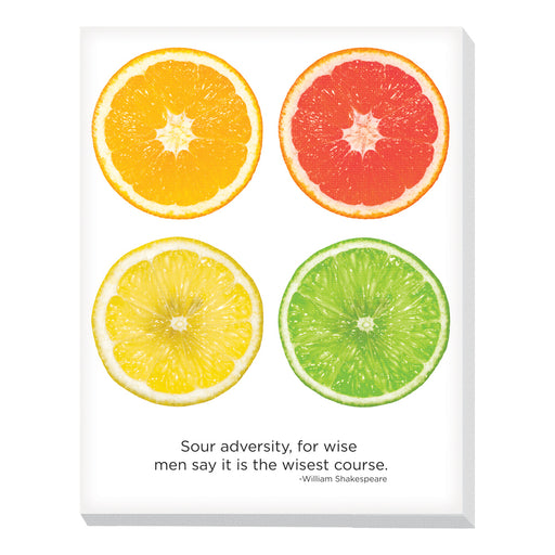 Advantus Canvas Motivational Breakroom, Fruit, Citrus