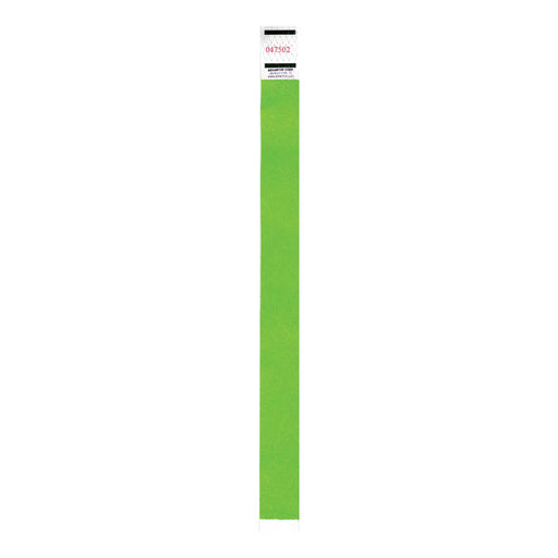 Advantus Neon Tyvek Wristbands, Green, 500/PK