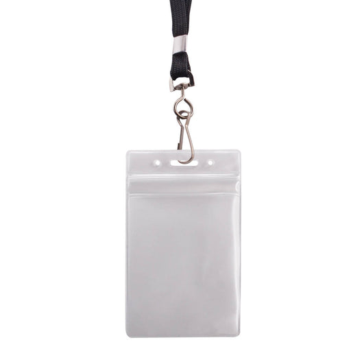 Advantus Resealable Badge Holder & Deluxe 36in. Lanyard with J Hook, Vertical, 2⅝in. x 3¾in, 20/PK