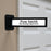 Advantus Pop Out Wall Mount Sign, Black, 9 in. x 2in.