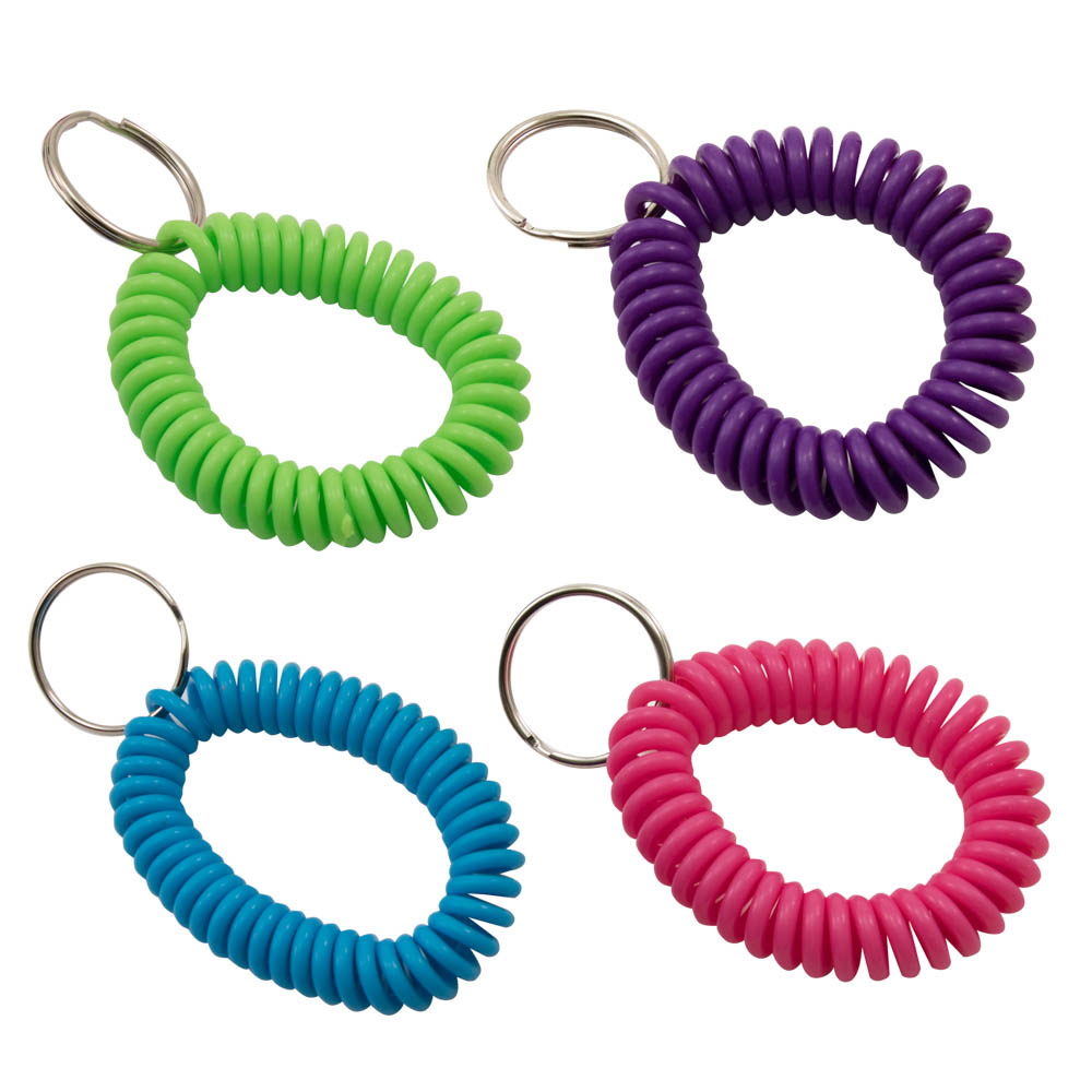 Advantus Spiral Key Chains, 4/PK