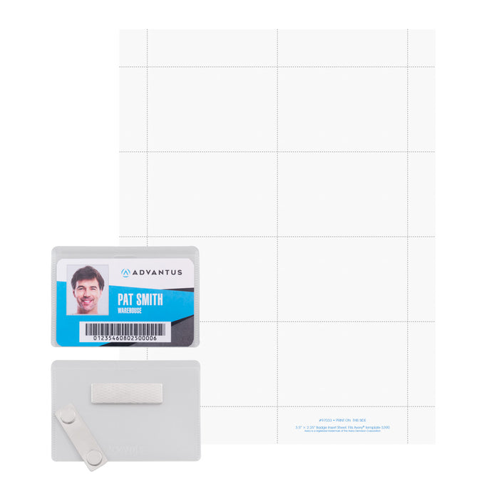 Advantus DIY Magnetic Name Badge Kit, 20/PK