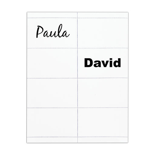 Advantus White Printable Adhesive Badge Stickers, 3⅜in. x 2⅓in, 200/BX