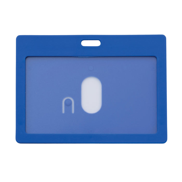 Advantus Rigid ID Badge Holder, Horizontal, Blue, 3¼in. x 2in, 6/PK