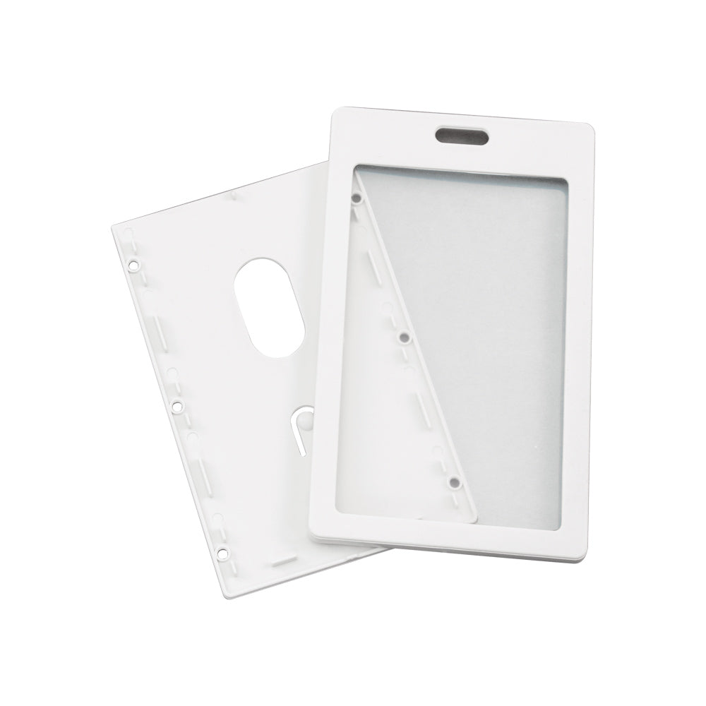 Advantus Rigid ID Badge Holder, Vertical, White, 2in. x 3¼in, 6/PK