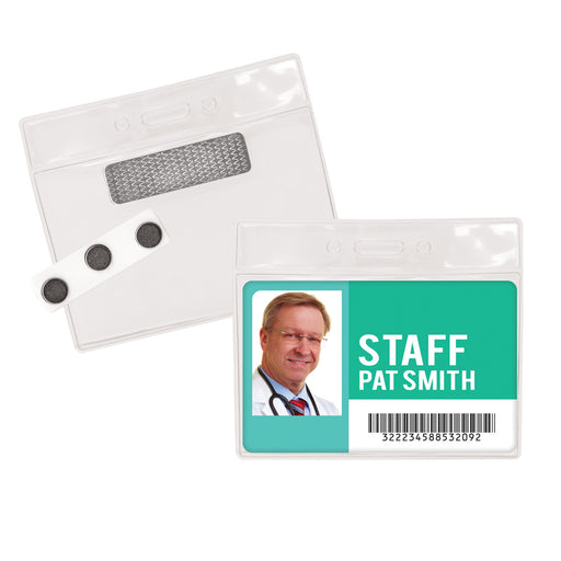 Advantus Magnetic Name Badge Kit, 4in. x 3in, 20/PK