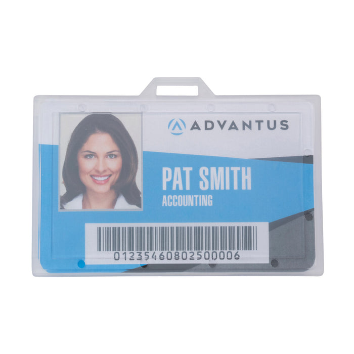 Advantus ID Badge Holder, Horizontal, 3⅜in. x 2⅛, 25/PK
