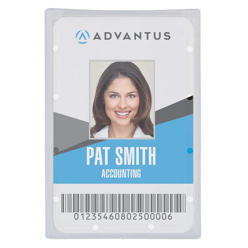 Advantus ID Badge Holder, Vertical, 2⅛in.x 3⅜in, 25/PK