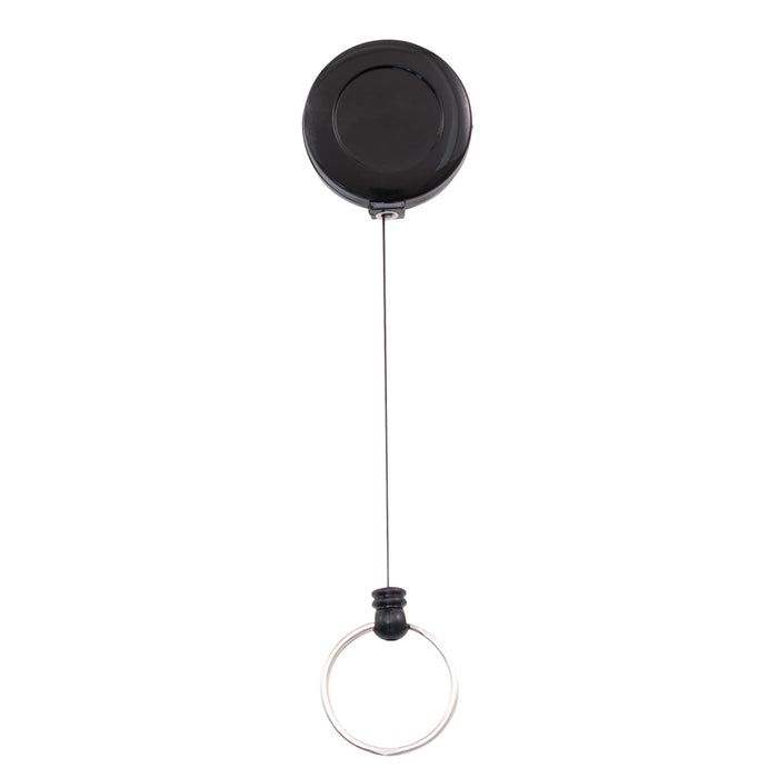 Advantus Retractable Badge Reel with Split Key Ring, Black, 12/BX