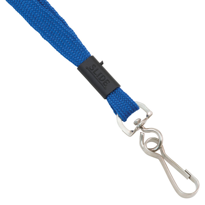 Advantus Breakaway Lanyard with J Hook, Blue, 24/BX