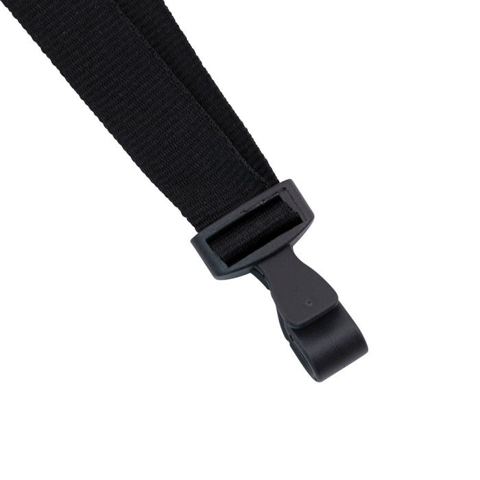 Advantus Breakaway Lanyard with Plastic Hook, Black, 12/BX