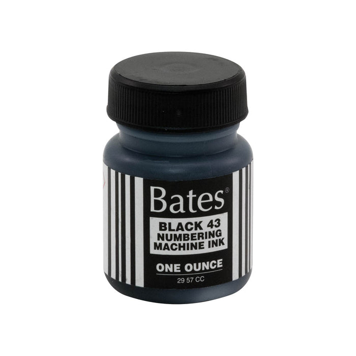 Bates Ink, Bottle, 1 oz, Black