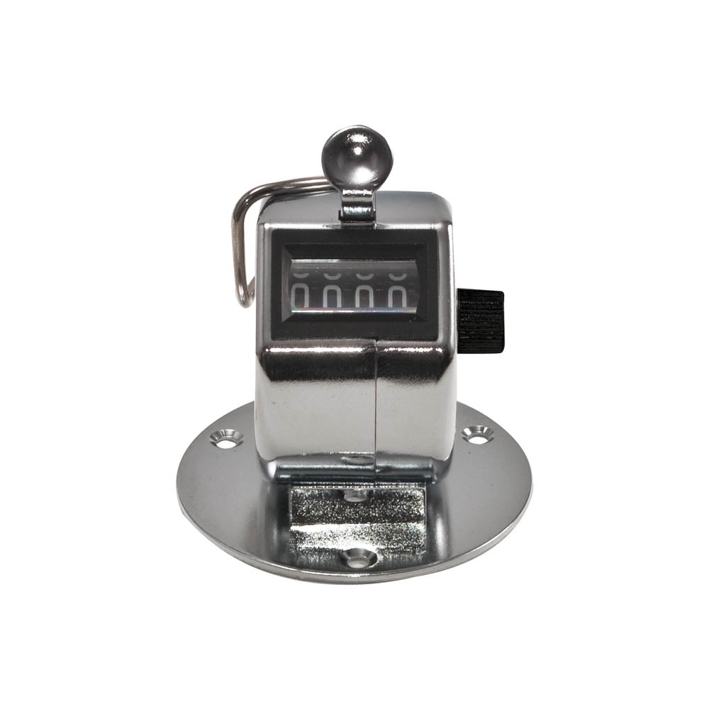 Bates Tally Counter, Desk Model Tally II, Chrome