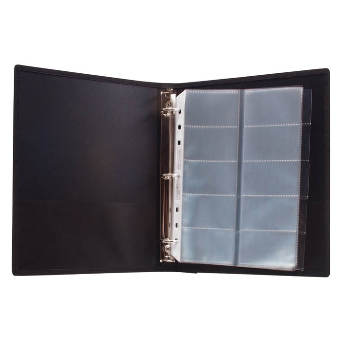 Angler's Business Card Binder, Black