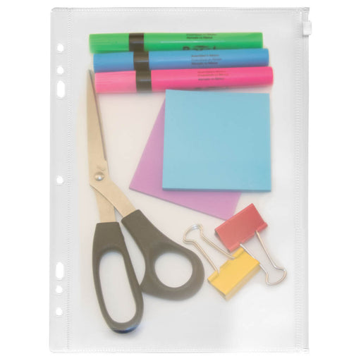 Angler's Zip All Ring Binder Pockets, Clear, 8 ½in. x 11in.
