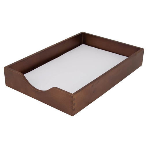 Carver Wood Desk Tray, Walnut, Legal