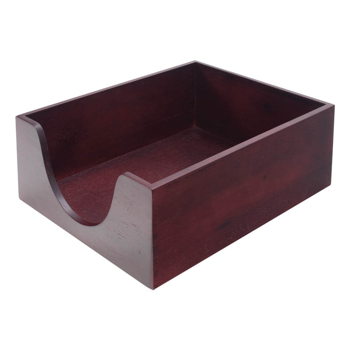 Carver Wood Double Deep Desk Tray, Mahogany, Legal