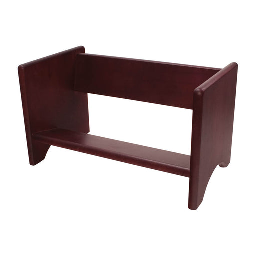 Carver Wood Binder Rack, Mahogany