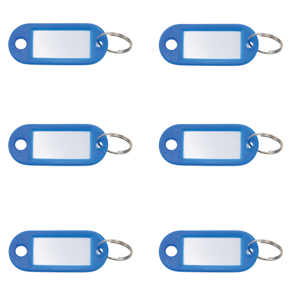 Key Tags Label Window 6pk Blue