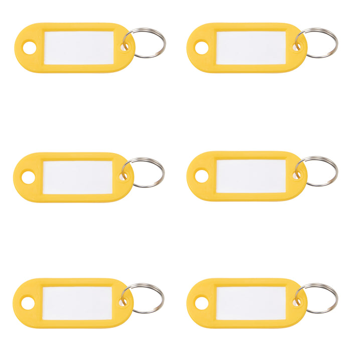 Key Tags Label Window 6pk Ylw