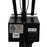Ledu 3 Way Fluorescent/Incandescent Lamp, Black