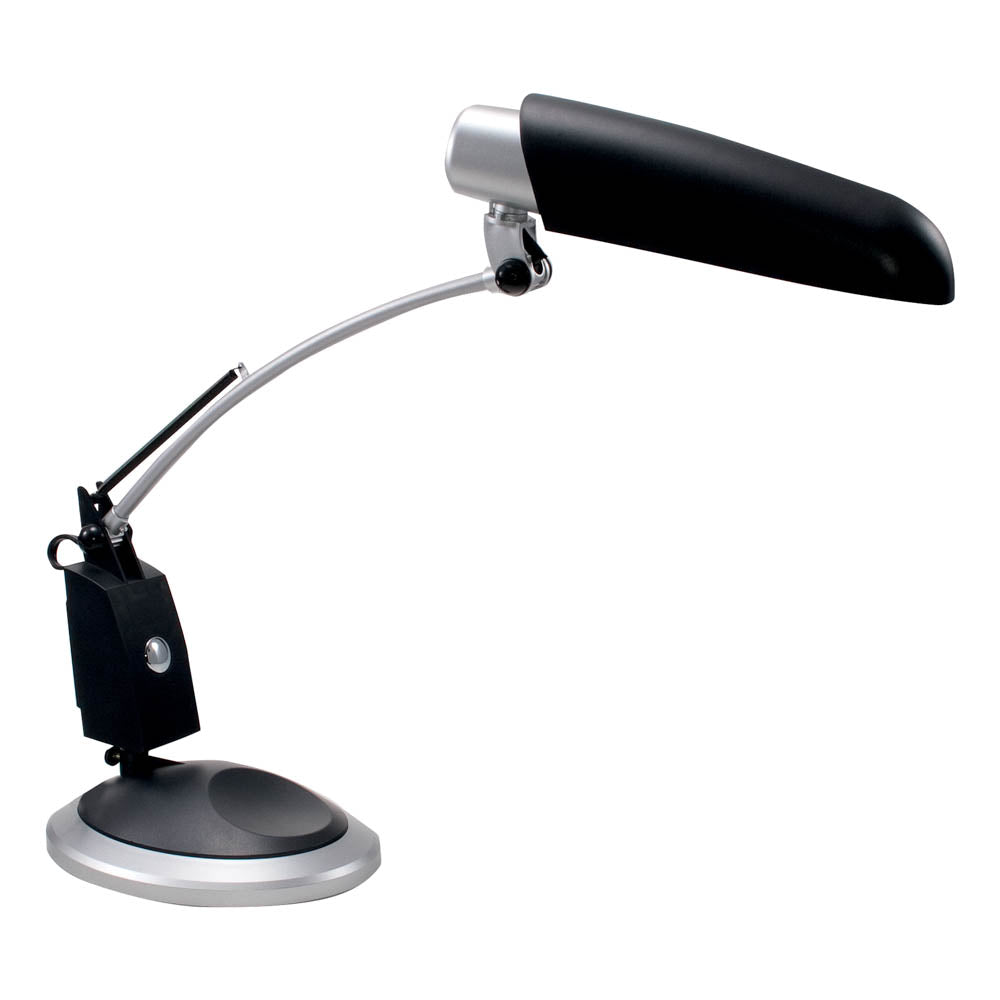 Ledu Full Spectrum Desk Lamp, Black/Silver