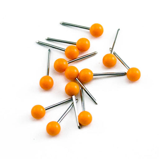 Advantus Medium Head Map Tacks, Orange, 100/BX